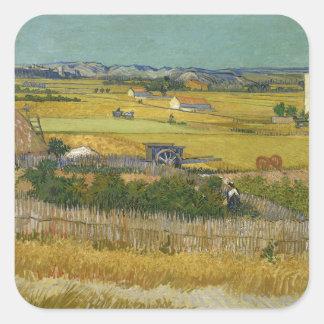 Harvest by Vincent Van Gogh Sticker