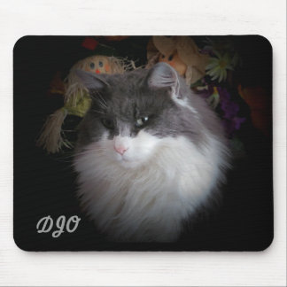 Harvest cat and your initials mouse pad
