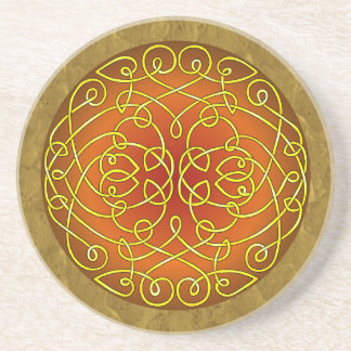 Harvest Celtic Art Curls Beverage Coasters