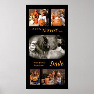 Harvest collage (blk) poster
