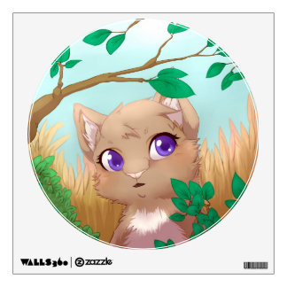 Harvest colors cat wall sticker