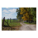 HARVEST COUNTRY LANE 36 x 24 + other sizes avail. Poster