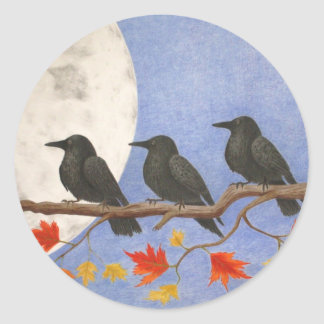 Harvest Crows Sticker