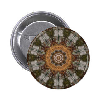 Harvest Day Impasto Kaleidoscope Art 3 2 Inch Round Button