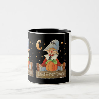 Harvest dreams Scarecrow fall coffee mug