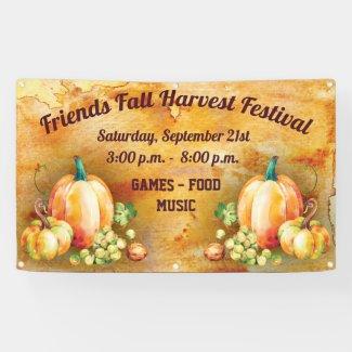Harvest Fall Autumn Festival Banner