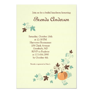 Harvest Fall Bridal Shower Invitation