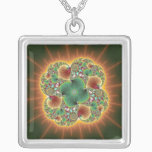 Harvest Festival - Abstract Art Silver Plated Necklace
