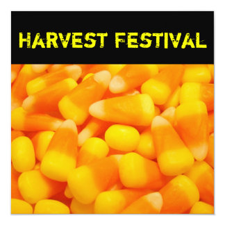 Harvest Festival Invitation Announcements Candy