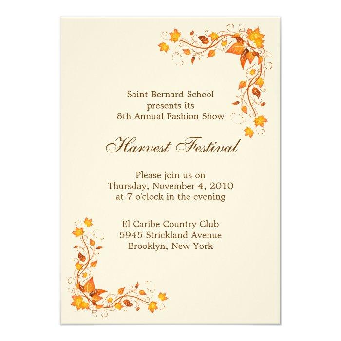 Harvest Festival Invitation Card Zazzle