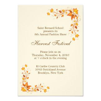 "Harvest Festival Invitation Card 5"" X 7"" Invitation Card"