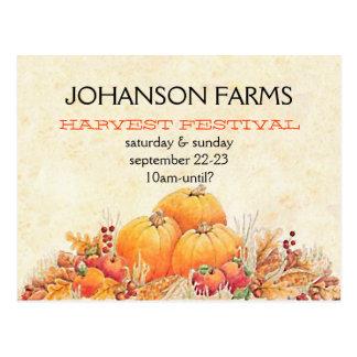 Harvest Festival Pumpkin Patch Postcard