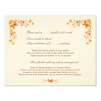 Harvest Festival RSVP Card with Envelope