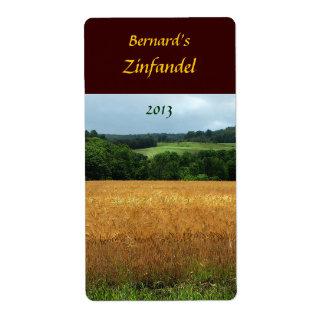 Harvest Fields Wine Label