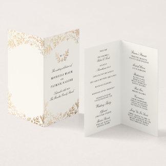 Harvest Flowers Mini Wedding Program Card