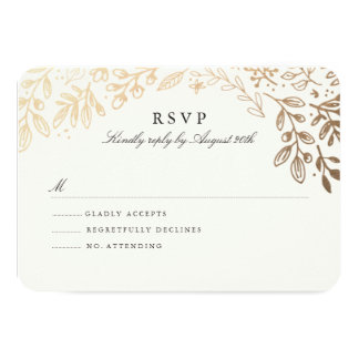 Harvest Flowers RSVP Card