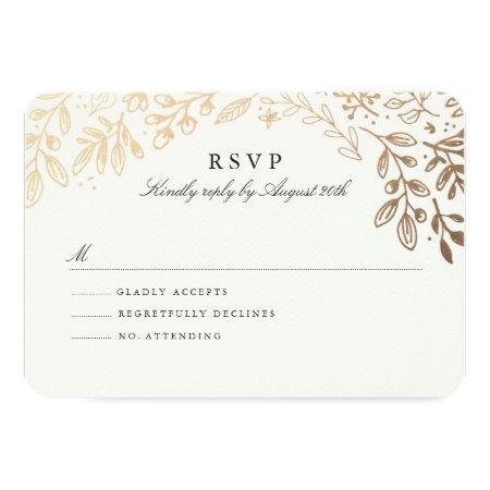 Harvest Flowers Rsvp Card