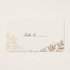 Harvest Flowers Table Place Card at Zazzle
