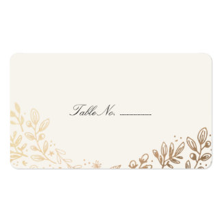 Harvest Flowers Table Place Card Double-Sided Standard Business Cards (Pack Of 100)