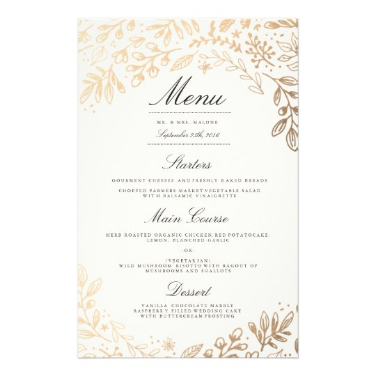 Wedding dinner menu hatchurbanskript wedding dinner menu junglespirit Gallery