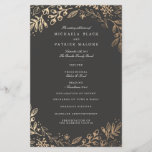 """Harvest Flowers Wedding Program<br><div class=""""desc"""">Elegant gold floral by Shelby Allison. For matching invitations,  reply cards,  stickers and other items click on the link below to view the entire Harvest Flowers.</div>"""