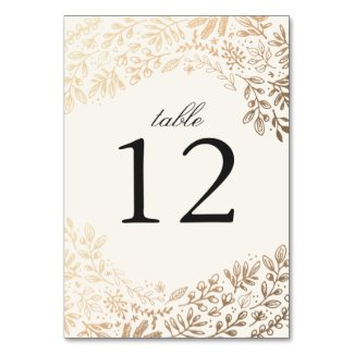 Harvest Flowers Wedding Table Number