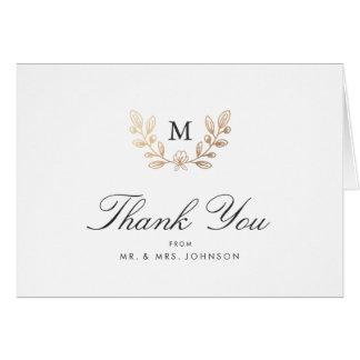 Harvest Flowers Wedding Thank You Card