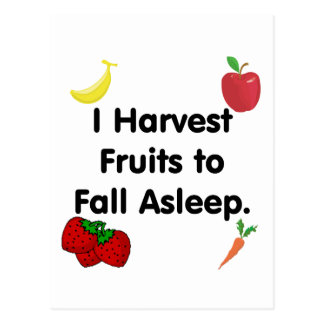 Harvest Fruits to Fall Asleep Postcard