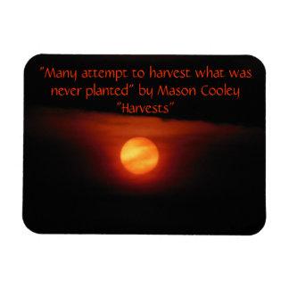Harvest Full Moon Magnet Rectangular Photo Magnet