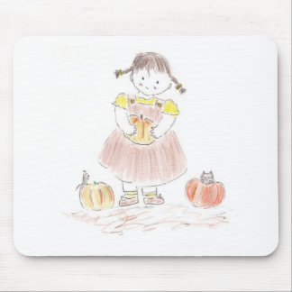 Harvest Girl Mouse Pad