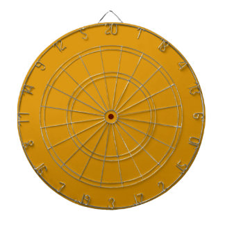 Harvest Gold Dartboard with Darts