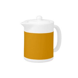 Harvest Gold Porcelain Teapot