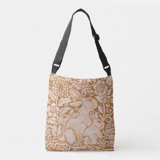 Harvest Gold Rabbit Family Designer Tote Bag Art