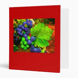 Harvest Grapes 3 Ring Binder