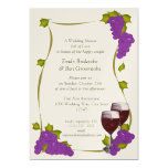 Harvest Grapes Bridal Shower 5x7 Paper Invitation Card