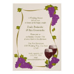 Harvest Grapes Bridal Shower Custom Announcements