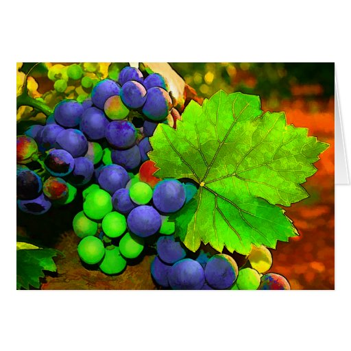 Harvest Grapes Greeting Card