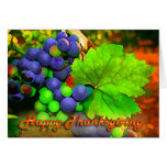 Harvest Grapes Happy Thanksgiving Greeting Cards