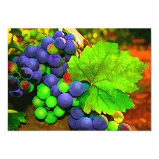 "Harvest Grapes 5"" X 7"" Invitation Card"