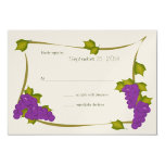 "Harvest Grapes Response Card 3.5"" X 5"" Invitation Card"