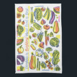 "Harvest Hand Towel<br><div class=""desc"">Laughter is brightest where food is best</div>"