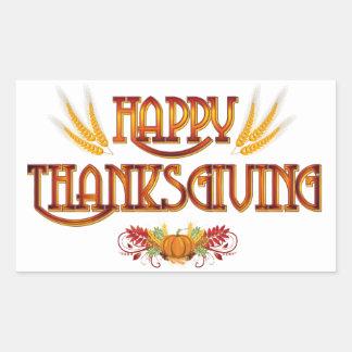 Harvest Happy Thanksgiving Rectangular Sticker