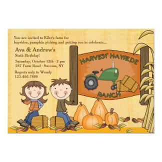 Harvest Hayride Party Invitation