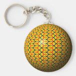 Harvest hexagon Keychain