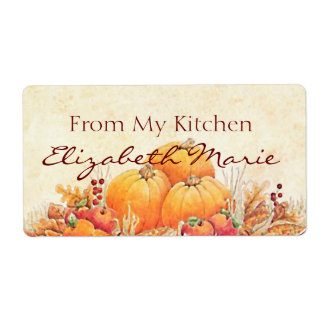 Harvest-Homemade Personalized Shipping Labels