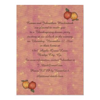Harvest Horseshoe Thanksgiving Upturned Card
