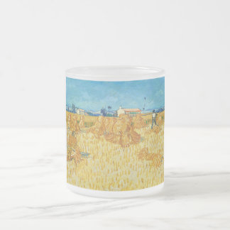 Harvest in Provence by Vincent Van Gogh 10 Oz Frosted Glass Coffee Mug