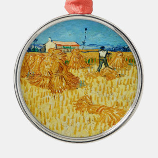 Harvest in Provence by Vincent Van Gogh Ornament