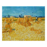 Harvest in Provence by Vincent Van Gogh Print