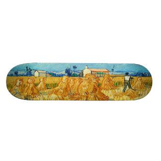Harvest in Provence by Vincent Van Gogh Skate Deck